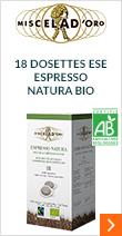 18 dosettes ESE Espresso Natura Bio - Miscela d'Oro