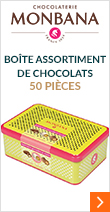 Boîte assortiment de chocolats 50 pièces - Monbana