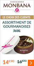 Assortiment de gourmandises au chocolat 360g - Monbana