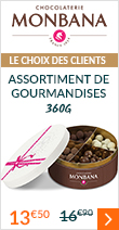 Assortiment de gourmandises au chocolat - 360g - Monbana