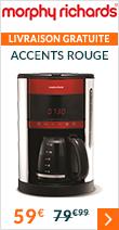 Morphy Richards - Cafetière filtre Accents Rouge