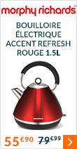 Bouilloire électrique Morphy Richards Accents Refresh Rouge