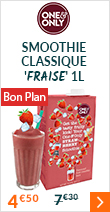 Smoothie classique 'Fraise' 1L - One and Only