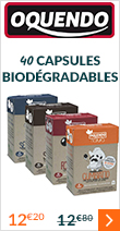 40 Capsules Biodégradables Oquendo