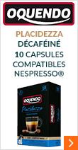 Capsules compostables compatibles Nespresso® 'Placidezza' x10 - Oquendo