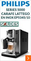 Philips Série 5000 Carafe LatteGo en Inox EP5345/10 Garantie 2 ans +1 AN OFFERT !