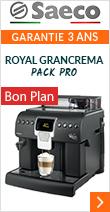 Saeco Royal GranCrema Pack Pro Garantie 3 ans*