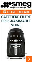 Cafetière filtre programmable Smeg DCF02BLEU noire + offre cadeaux