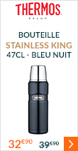 Bouteille Stainless King Inox 47 cl bleu nuit - Thermos
