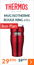 Mug isotherme Thermos King rouge 47cl - THERMOS