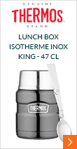 Lunch box isotherme inox Thermos King Gris 47 cl - Thermos