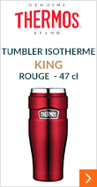Tumbler isotherme Thermos King rouge 47cl - THERMOS