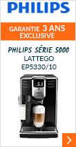 Philips Série 5000 LatteGo EP5330/10 Noire Garantie 2 ans +1 AN OFFERT !
